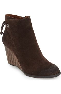 Lucky Brand 'Yamina' Wedge Zip Bootie (Women) available at #Nordstrom