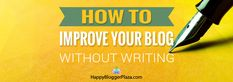 Blog post at Happy Blogger Plaza :   OK, I admit I did not feel like writing a blog post this week.  I know, I know, I bug you all the time to write at least one post a we[..]