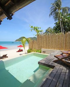 Rasananda is on the sunrise side of Koh Phangan, an island near Koh Samui.