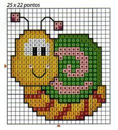 Família e Arte: graficos Tiny Cross Stitch, Cross Stitch Tree, Cross Stitch Cards, Cross Stitch Animals, Stitching On Paper, Cross Stitching, Cross Stitch Embroidery, Pixel Crochet, Crochet Quilt