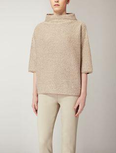 Max Mara ALTON beige: Maglia in lana stretch.
