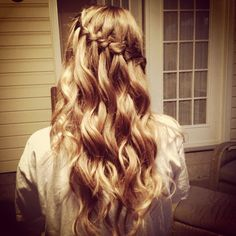 Waterfall Braid Curly Hair.
