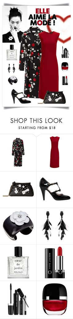 """""""Isa Arfen Classic Relaxed Floral Trench Look"""" by romaboots-1 ❤ liked on Polyvore featuring Aime, Joseph, Boutique Moschino, Margot McKinney, Oscar de la Renta, Miller Harris and Marc Jacobs"""
