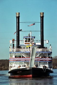 Diamond Lady Riverboat Casino on the Mississippi River - 1991