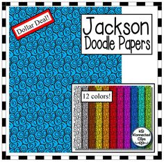 Dollar Deal! Jackson Doodle Papers $ Great value!!! https://www.teacherspayteachers.com/Product/Dollar-Deal-Jackson-Doodle-Papers-2107520