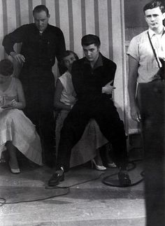 backstage of the Wink Martindale dance party in june 16 1956