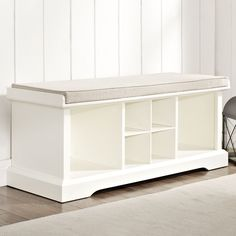 "Crosley Brennan Wood Entryway Storage Bench & Reviews | Wayfair $279 42"" wide 16"" deep 21"" high"