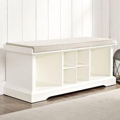 """Crosley Brennan Wood Entryway Storage Bench & Reviews   Wayfair $279 42"""" wide 16"""" deep 21"""" high"""