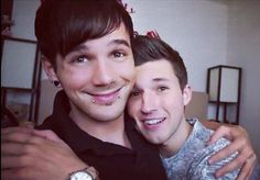 Adorable Boyfriends, Matthew and Nick. Lush-Laws!!! I love their videos they're so cute!!