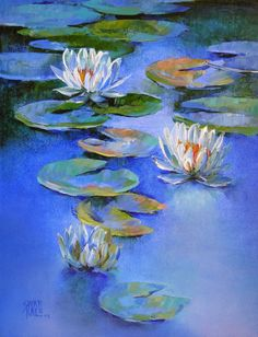 Lovely water lily painting by Swati Kale on Canvas is surely going to provide a soothing yet sophisticated look on your wall. Lilies Drawing, Water Lilies Painting, Lotus Painting, Lily Painting, Lotus Art, Floral Wall Art, Online Art Gallery, Art Online, Art Plastique
