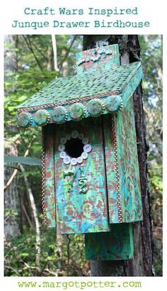Margot Potter: Craft Wars Inspired Junque Drawer Birdhouse! With links to projects by other Craft Wars Vets!