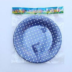 10pcs Striped Polka Dot Paper Plates For BBQ Valentine Birthday Wedding Nursery Party Tableware Party Supplies