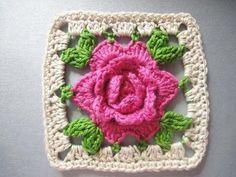 Transcendent Crochet a Solid Granny Square Ideas. Inconceivable Crochet a Solid Granny Square Ideas. Point Granny Au Crochet, Crochet Flower Squares, Crochet Flower Tutorial, Granny Square Crochet Pattern, Crochet Flower Patterns, Crochet Blanket Patterns, Crochet Motif, Crochet Flowers, Rose Tutorial