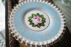 Fenton Pedestal Cake Plate/Cupcake by VTGGlassRevisited on Etsy