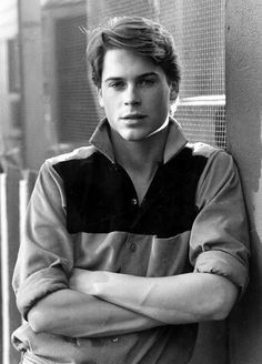 young rob lowe... this is wat i picture christian grey to look like for some reason. damn. -jdm<3