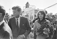 A picture of JFK on the day he was assassinated, November 22, 1963.