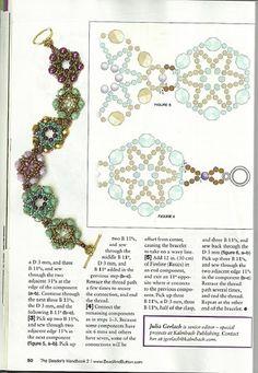 3 of 3 Схемы: Браслеты. Архив Beads and Button - Handbook 2