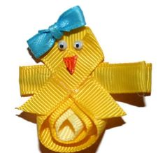 Spring or Easter Chick Hair Clip or Pin by Magnificence on Etsy, $5.00
