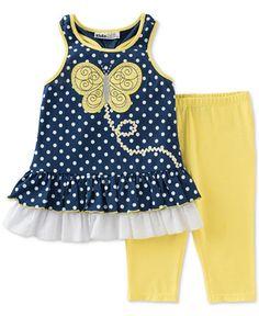 Kids Headquarters Little Girls' 2-Pc. Sleeveless Tunic & Capri Leggings Set