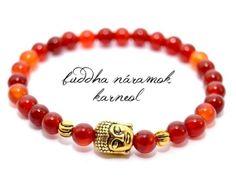 BUDDHA náramok gold karneol Buddha, Beaded Bracelets, Gold, Jewelry, Carnelian, Jewlery, Jewerly, Pearl Bracelets, Schmuck