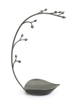 12 hooks on one leaf shaped dish. Decorative stand to hold jewelry and accessories.  Dimension: 9 x 5 x 15 (22.9 x 14 x 38.1 cm)  Orchid Jewelry Tree by Umbra. Accessories - Jewelry - Jewelry Boxes & Accessories Massachusetts