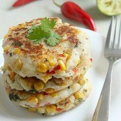 Thai-style corn and potato cakes