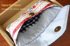 Envelope purse, envelope clutch, envelope bag, envelope handbag, digital pdf , sewing pattern sewing tutorial, Story Quilt, zakka style,