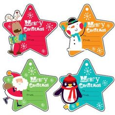Christmas Star Tags