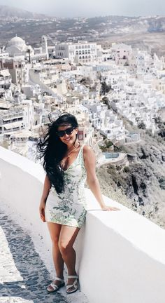 What To Wear In Santorini, Fira, Greece? Today's Fashion Is A Throwback To Greece!   #whattowear #fashion #fashiontravel #travel #travelfashion #santorini #fira #greece #clipinhairextensions #hairextensions #hairstyle #hairtravel #ootdmagazine #ootd #outfitoftheday #todayseverydayfashion #travelstyle