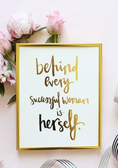 Successful Women Gold Foil Print inches by MissPoppyDesign, Inspire your friends with this awesome print! Buy it on Keep before it sells out! Positive Quotes, Motivational Quotes, Inspirational Quotes, Sucess Quotes, Lyric Quotes, Positive Affirmations, Movie Quotes, Quotes Quotes, Woman Quotes