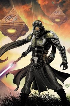 Sith Lord<<<I don't think he's a Sith because this is from Dawn of the Jedi which is based before the Sith order but he is definitely on the dark side of the force
