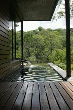 Pool off deck...would love this if it wrapped around the corner.
