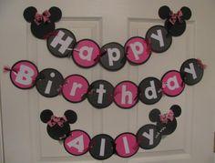 Minnie birthday banner