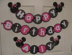 Minnie birthday banner