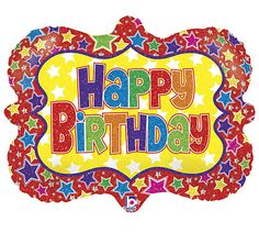 CIRCUS Picture Frame Bright Bold Happy Birthday Party Mylar Balloon Decorations - Perfect Circus fun!