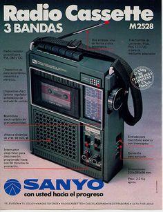Radio Cassette Sanyo. Año 1978