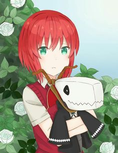 Chise & Elias~ Mahoutsukai no Yome. The Ancient Magus Bride. Anime Snow, Best Romance Anime, Elias Ainsworth, Chise Hatori, Arte Sailor Moon, Snow White With The Red Hair, The Ancient Magus Bride, Deadman Wonderland, Estilo Anime