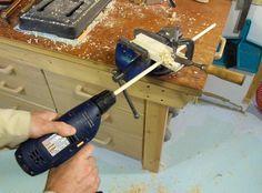 Making dowels - the pencil sharpener method