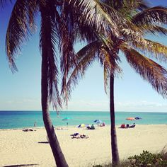 Hollywood Beach, Ft Lauderdale, FL. A beautiful day with 82 degree weather on February 4, 2013.