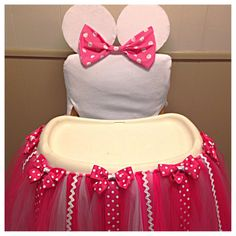 Minnie Mouse High Chair Tutu Tutu for High by FreckledStrawberrie