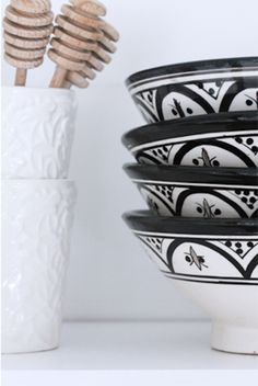 black and white bowls-should get few when i go to morocco