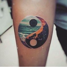 Yin Yang Tattoo Harmonie - Tattoo Trends and Lifestyle Get A Tattoo, Arm Tattoo, Body Art Tattoos, New Tattoos, Compass Tattoo, Sleeve Tattoos, Tattoos For Guys, Tattoo Ink, Tatoos Men