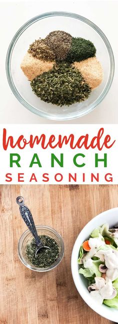 Homemade Ranch Dressing Seasoning is super easy to make and less expensive than store bought. #recipes