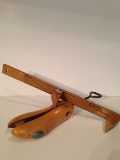 Vintage Wooden Cobbler Form and Wooden Foot Measure Shoe Sizer,Rustic Decor,Custom Scale, Measure Feet, Collectoble, Shoe Form,Shoe Crank, by Sunshineoftreasures on Etsy