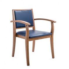 La chaise Liza réponds aux besoins spécifiques des Seniors. L'assise et le dossier sont idéalement dimensionnés et molletonnés pour une assise saine et confortable. Les longs accoudoirs sont une aide précieuse pour s'asseoir et se lever.