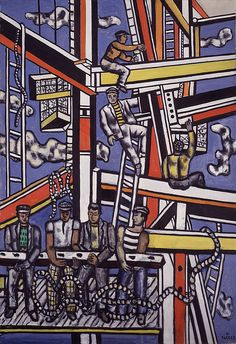 Collection Online | Fernand Léger. Builders with Rope (Les constructeurs au cordage). 1950 - Guggenheim Museum