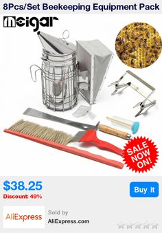 8Pcs/Set Beekeeping Equipment Pack Bee Brush Fork Queen Catcher Hive Tool Bee Smoker Wheel Wire Embedder Bee Hive Claw Scraper * Pub Date: 13:37 Apr 13 2017