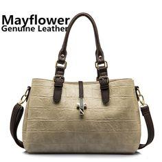 New 2014 fashion ladies crocodile pattern genuine leather bags famous brands women handbag shoulder messenger bags, Freeshipping $34.00