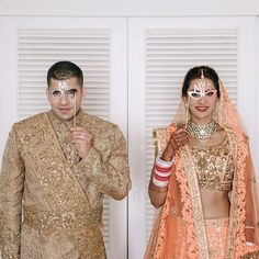 Real couple in Pawan and Pranav both of these gorgeous pieces are in store for UK brides and grooms to customise and make their own!! Our beautiful Australian couple Maala & Rohan on their special day looking magnificent in a #pawanandpranav #hautecouture #couture #fashion #neon #orange #lehenga #zardozi #embroidery #gold #sherwani #bridal #bridallengha #indianwedding #australia #sydney #international #client #clientdiaries #love