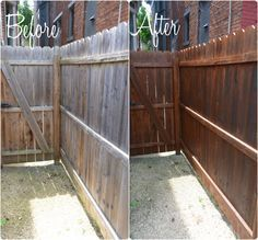 how to stain your fence